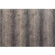 Modern Brown Grey Textured Floor Rug Microfiber Carpet FRE03 Weave Rugaustralia