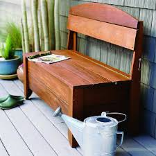 handsome bench hides a hose storage benches storage and bench plans