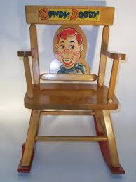 100 Cowboy In Rocking Chair Howdy Doody Musical By Thayer Vintage 1950 SOLD