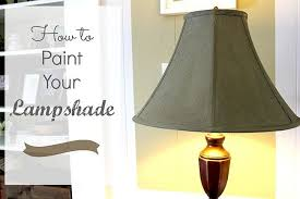 VIEW IN GALLERY Painted Lamp Shade
