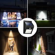 A To Z Sales Argos Solar Power PIR Motion Sensor Wall Light 20 LED