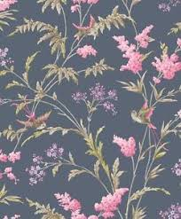 Vintage Jasmin Shabby Chic Bird Branch Flower Glitter
