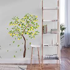 decalmile wandtattoo zitronenbaum wandaufkleber grüner