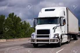 100 Truck Tractor A Modern Large White Big Rig Semi With A Powerful