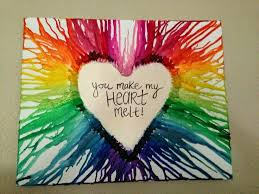 Peel The Crayons Hot Glue On A Canvas Blow Dry It Until Spreads Its So Fun And Easy To Do For Everybody
