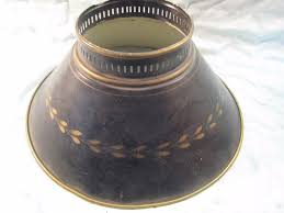 Punched Tin Lamp Shade Country by Vintage Tin Lamp Shade Hanging Oil Saloon Light Metal Black Gold