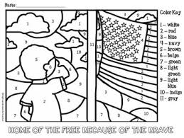 Free Memorial Day And Veterans Color By Number Coloring Page