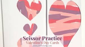 Construction Paper Craft For Kids Scissor Practice Valentines