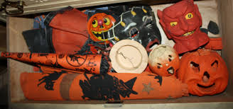 1920s and 30s Halloween decorations in excellent condition JPG