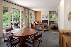 living room tile dining room contemporary with table