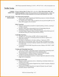Resume Profile Examples Law Enforcement Luxury Police Ficer Elegant Military
