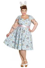 60s Plus Size Retro Dresses Clothing Costumes