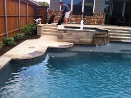 Npt Pool Tile Palm Desert by Stacked Stone Pool With Blue Tiles Google Search Backyard At