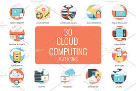 100 Flat Cloud 30 Computing Icons