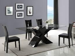 ensemble table chaises ensemble table 4 chaises hollis coloris blanc ou noir