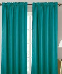 teal blackout curtains blackout single panel curtain turquoise