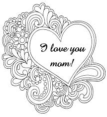 I Love You Mom Coloring Pages For Adults