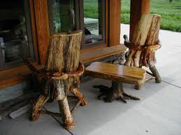 Appealing Log Furniture Chairs Rustic Bar Stools Barstools