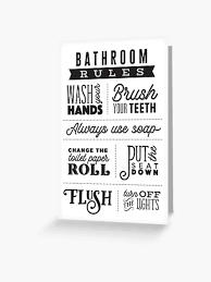 badezimmer regeln grußkarte