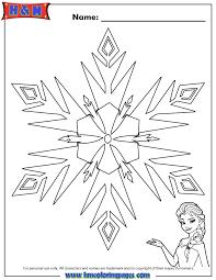 Elsa Frozen Snowflake Coloring Page