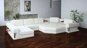 canapé d angle en cuir convertible canapé d angle panoramique athena avec repose pied