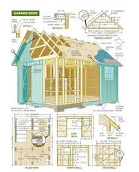build your own garden shed from pm plans storage building plans