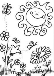 Download Coloring Pages Spring Scene Of Page