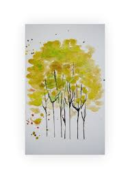 Original Watercolor Tree Painting Abstract By Almondtreeart EUR1000