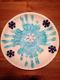 Paper Plate Snowflake Craft Winter Preschool Crafts