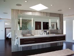 Single Sink Vanity With Makeup Table by Bathroom Charming Round Mirror On Minimalist Modern Bathroom