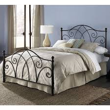 Spindle Headboard And Footboard by Queen Size Complete Elegant Metal Bed Frame With Spiral Pattern
