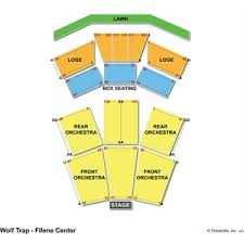 Wolf Trap Seating Charts