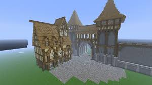 Main Entrance City With A First House Minecraft By Nosh0r