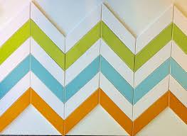 2x8 Ceramic Subway Tile by Ceramic Chevron Subway Tile Orange Zest Modwalls Designer Tile
