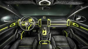 Does this custom Porsche Cayenne S interior make you green with envy