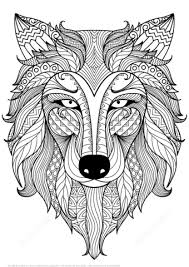 Click To See Printable Version Of Wolf Zentangle Coloring Page