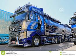 Mercedes-Benz Actros Xtar Show Truck Editorial Image - Image Of ...