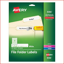 Avery File Folder Labels For Laser And Inkjet Printers 0 6 X 3 43 Inches White