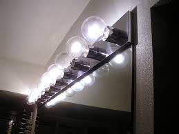 bathroom lighting captivating bathroom light bulb ideas vanity