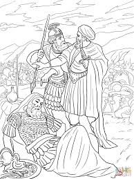 Click The David Spares King Saul Coloring Pages To View Printable Version Or Color It Online Compatible With IPad And Android Tablets