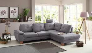 ecksofa laverna wahlweise mit bettfunktion ottomane rechts oder links grau material buche polyester massivholz ramie