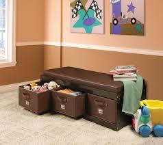 amazon com badger basket kid u0027s storage bench with cushion and 3