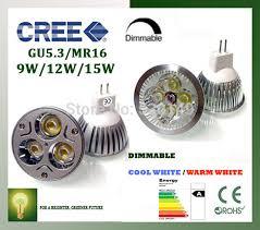 high lumen cree mr16 gu5 3 led l 12v 9w 12w 15w led spotlight