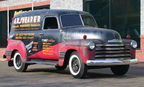 Nostalgia On Wheels: A.R. Shearer Automotive Distributor Chevy Panel ... 1956 Chevrolet 3100 Panel Truck Wallpaper 5179x2471 553903 1955 Berlin Motors Auctions 1969 C10 Panel Truck Owls Head Transportation 1951 Pu 1941 Am3605 1965 Hot Rod Network Greenlight Blue Collar Series 3 1939 Chevy Krispy Kreme Greenlight 124 Running On Empty Rare 1957 12 Ton 502 V8 For Sale 1962 Sale Classiccarscom Cc998786 1958 Apache 38 1 Toys And Trucks Youtube