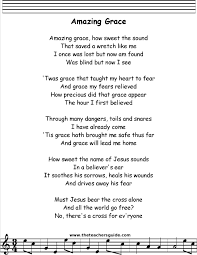 Amazing Grace Lyrics Printout MIDI and Video