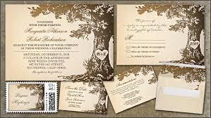 Tree Wedding Rustic Invitations With Old Oak