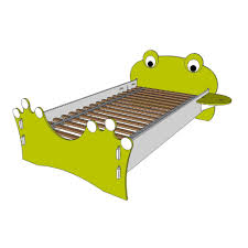 Spindle Headboard And Footboard by Legare Kid U0027s Twin Bed With Frog Design Headboard And Foot Board In