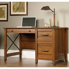Sauder Shoal Creek Desk Jamocha Wood by Sauder Desks Home Office Furniture The Home Depot