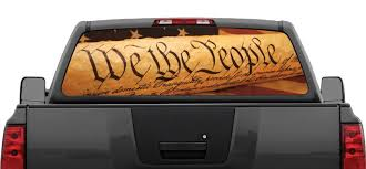 100 Rear Truck Window Decals We The People American Flag Patriotic Decal Graphic