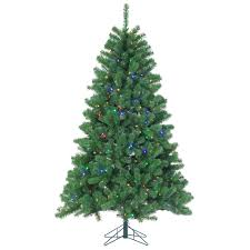STERLING 7 Ft Pre Lit LED Montana Pine Artificial Christmas Tree With Multicolored Lights